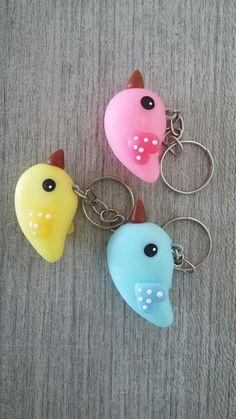 Chaveiros pássaros