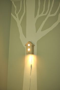 Jasper Modern Birdhouse Lamp for Baby Nursery Wall Hanging Decor for Tree Decal Baby Boy Rooms, Little Girl Rooms, Modern Birdhouses, Lamp Design, Decoration, Bird Houses, Night Light, Kids Room, Wall Lights