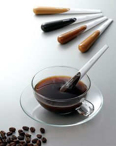 Coffee on a stick, I would love this with hot chocolate and tea too!