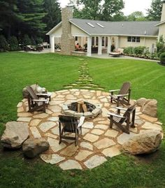 Great fire pit idea.