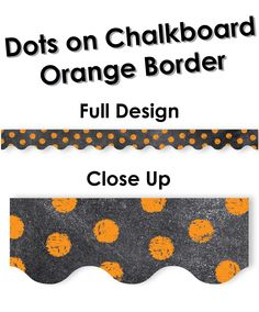 Chalk It Up! Dots on Chalkboard! Combine with Green and Turquoise for everyday use, or get crafty during Halloween! Chevron Classroom, Classroom Themes, Classroom Organization, Organizing, Chalkboard Border, Creative Teaching Press, Chalk It Up, Orange, Teaching Ideas