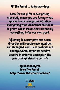 ♥️︎ The Secret ... daily teachings