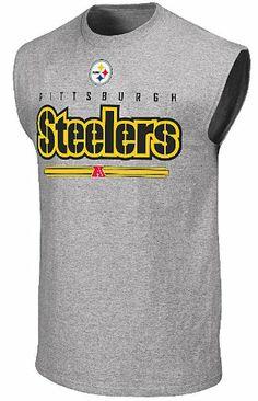 bb815c7b Amazon.com: Pittsburgh Steelers Mens Sleeveless Shirt by Majestic-Critical  Victory VI (
