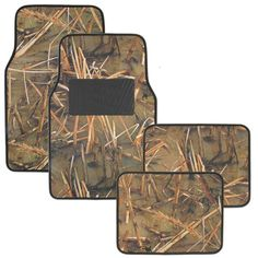 Muddy Water Camo Floor Mats - Water Resistant Vinyl Rubberized Backing Front & Rear Set - Swamp Camouflage: Muddy Water Camo Pattern Mats. These Camouflage Auto Floor Mats are perfect for the interior of your car, truck or sports utility vehicle. Rubber Floor Mats, Rubber Flooring, Car Floor Mats, Truck Seat Covers, Leather Car Seat Covers, Camo Car Accessories, Beach Shade, Forest Design, Car Sun Shade