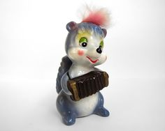 WITH AN ACCORDIAN!!!!!    Silly Ceramic Squirrel by RuggyDesign on Etsy, $9.00