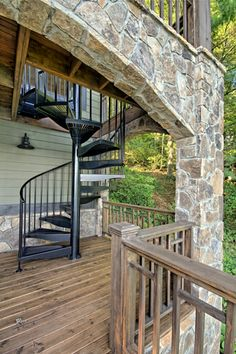 Spiral Staircase On A Lake House Deck Spiral Staircase Kits, Spiral  Staircases, House Deck