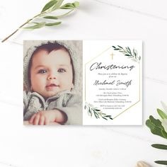 Don't miss our latest listed item on our shop: Baptism Invitation Boy, Greenery Baptism Invitation, Christening Invitation, Greenery Baptism Template, Baptism Invitation Photo Mickey Mouse Clubhouse Invitations, Mickey Mouse Invitation, Mickey Mouse Birthday, Baptism Invitation For Boys, Christening Invitations Boy, Baby Boy Baptism, Boy Christening, Baptism Party, Boy Printable