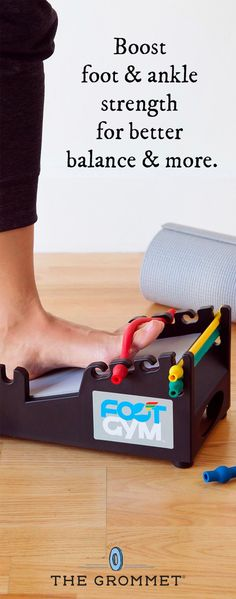 Foot pain? Ankle injury? Boost foot and ankle strength for better balance and more. This all-in-one exercise station provides resistance training, stretching, and massage in a compact design. DIY physical therapy right in your home.