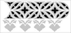 Border No 18 stencil from The Stencil Library GOTHIC, MEDIEVAL AND TUDOR range. Buy stencils online. Stencil code GMT18.