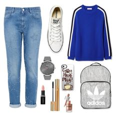 """""""When u late to school"""" by nayarasidik ❤ liked on Polyvore featuring Tory Burch, STELLA McCARTNEY, Converse, BOSS Black, Topshop, Casetify, Smashbox and Yves Saint Laurent"""