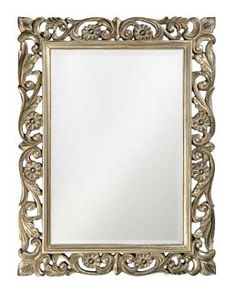 """Chateau Pewter 41"""" High Wall Mirror - MoreMirrors.com"""