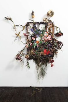 Valerie Hegarty Altered States in Time Out May, 2012 I love the messy and uncontrollable aspect in contrast with the beauty of the flowers. An idea to develop natural decay to growth/overgrown flowers and nature. Art Floral, Floral Design, Decay Art, Modern Art, Contemporary Art, Growth And Decay, Flower Installation, A Level Art, E Design