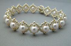 Silvery Pearls Bracelet by arosebyname on Etsy, $46.00