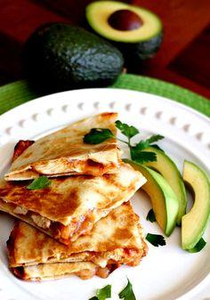 A combination of two favorites! A chicken enchilada filling inside a crispy quesadilla! www.mantitlement.com