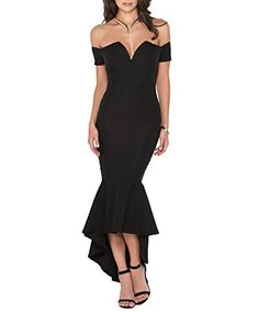 You won't need a dance partner tonight, 'cause you in this dress will be performance enough! Stretchy, mid-length, off-the-shoulder dress features a modified sweetheart neckline, short cuff-like sleeves that can be worn high or low on the shoulders, and a mermaid skirt with a dramatic, extra wide, high-low peplum ruffle at the bottom for a flamenco-like flair. Dress is finished with wire boning to reinfo Price : $82.00 #MyLuluCloset #MidiDresses
