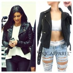 .Moto Jacket as seen on Kim Kardashian and Kylie Jenner from KJCAPPAREL™ Click to shop the look book