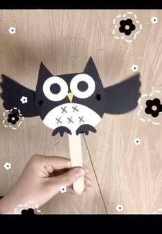 Boy Diy Crafts, Diy Crafts For Adults, Diy Crafts Videos, Diy For Kids, Paper Crafts, Owls For Kids, Owl Crafts Kids, Craft Activities, Preschool Crafts