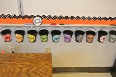 Effectively Managing a BIG Kinder Class (Lost a crayon? Go find one out of the colored tubs underneath the board)