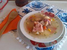 Supa de cartofi cu ciolan afumat