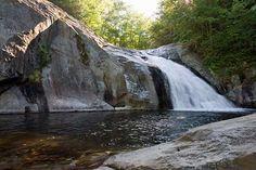 Harper's Creek Falls in the Pisgah National Forest near Mortimer, NC