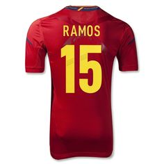 Spain Authentic Home Soccer Jersey. Can you guess why I want this? hahaha Not to mention 5 is my favorite number!