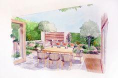 Garden Illustration for Johnny Grey Ltd - design by Ann-Marie Powell.