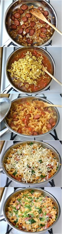 """FooF Drink: Creamy Sausage and Spinach Pasta Skillet"" previous pinner"