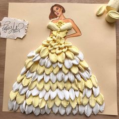 """Miss Marshmallow   Made out of marshmallows.  Hope you are not getting bored of   my illustrations. ☺️  This week was kind of a """"Haute Couture """" as you got it   Your support and love   Is the biggest inspiration for me.  Thank you for inspiring me.❤"""