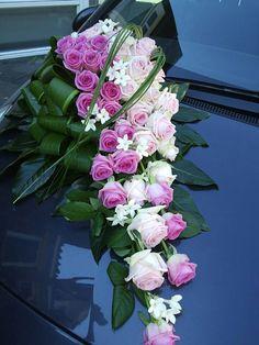 * Car Decoration * Tropical Floral Arrangements, Wedding Arrangements, Flower Arrangements, Floral Bouquets, Wedding Bouquets, Wedding Flowers, Wedding Car Decorations, Flower Decorations, Bridal Car