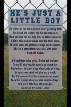 Something everyone needs to remember on opening day!!!