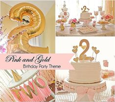 A DIY Pink and Gold Themed Birthday Party