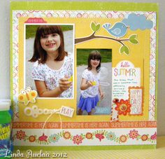 """Hello, Summer"" collection.  Layout by @Linda Auclair"