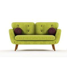 Sofa Alve, menší, zelená/fialová | Wintech