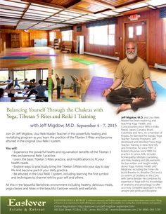 Join Dr. Jeff Migdow, Usui Reik Master Teacher  in this powerfully healing and revitalizing program as you learn the practice of the Tibetan 5 Rites and become attuned in the original Usui Reiki I system you will Experience the powerful health and rejuvenation benefits of the Tibetan 5 rites and personal Reiki 1 practice Learn the basic Tibetan 5 Rites practice, and modifications to fit your health needs.