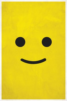 Smile – A Lego-Inspired poster of simplistic proportions! » Design You Trust #minimal #poster #design