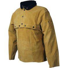 Caiman Boarhide Leather Replacement Bib for Welding Coat, 3032 Welding Jackets, Steel Carports, Metal Working, Cape, Raincoat, Leather Jacket, Sleeves, Beast, Projects