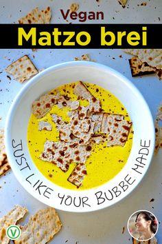 Vegan Matzo Brei Recipe for Passover Matzo Brei Recipe, How To Make Omelette, Aquafaba, How To Cook Eggs, Perfect Breakfast, Nutritional Yeast, Vegan Butter, I Foods, Dairy Free
