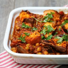Chana Masala and Sweet Potato Bake