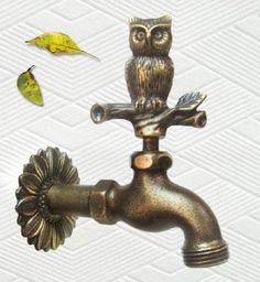 Amazon.com: Solid Brass Owl Faucet: Patio, Lawn & Garden
