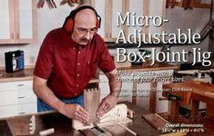 1746-Micro Adjustable Box Joint Jig Woodworking Techniques, Woodworking Jigs, Woodworking Projects, Box Joint Jig, Box Joints, Finger Joint, Diy Tools, Joinery, Wood Projects