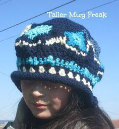 gorro freeform crochet