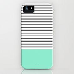 Minimal Mint Stripes iPhone & iPod Case by Allyson Johnson   Society6