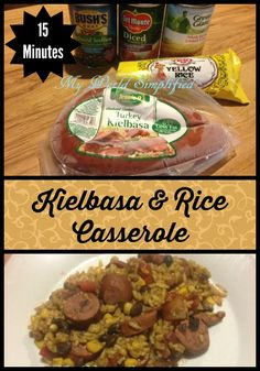 Kielbasa and Rice Casserole