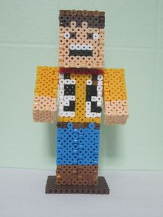 Woody Minecraft Skin 3D_Perler Beads
