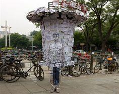 The invisible man: Liu Bolin's latest camouflage artwork, Hiding in the City - Telegraph