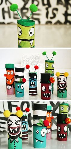 Little Monsters | 15 Toilet Paper Roll Crafts For Kids