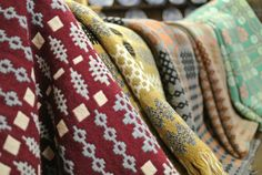 An ever changing stock of welsh wool tapestry blankets and plaids ranging in price from to Welsh Blanket, Home Accessories, Blankets, Print Patterns, Vintage Outfits, Textiles, Tapestry, Wool, Fabric