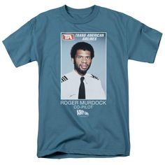 Airplane - Roger Murdock Short Sleeve Adult 18/1