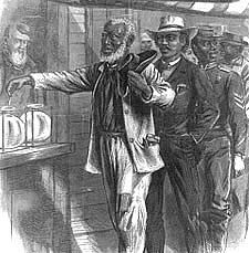 Primary Documents in African American History [The first vote drawn by A.R. Waud]