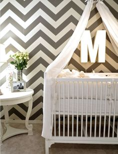 Love chevron walls!